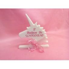 12mm Pink Corian Unicorn Head
